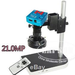 21mp Hdmi 1080p 60fps Usb Microscope Industrial Appareil Photo Numérique Avec Zoom Optique 100x