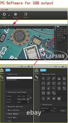 2k 1080p 60fps 38mp Hdmi Usb C Cs Mount Appareil Photo Numérique De L'industrie Microscope Objectif