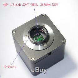 2k Qhd Hdmi 1080p @ 60fps Microscope Industriel Appareil Photo Numérique + 20-180x Objectif Zoom