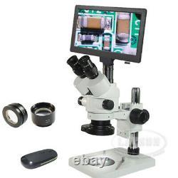 3.5-90x Trinoculaire Zoom Stéréo Microscope 1080p 60fps Digital-mount Caméra LCD