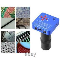 38mp 1080p 60fps Hdmi Usb Industrial Microscope Digital Video Camera + 100x Lens