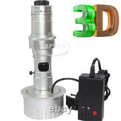3d Stéréo 180x C-mount Lens W Led Light For Digital Industrial Microscope Camera