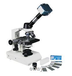 40-2500x Microscope Médical Numérique Professionnel Led Avec Caméra Usb Win Mac 9mp