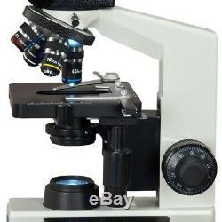 40x-1000x Binocular Composé Led Microscope + Intégré 3mp Appareil Photo Numérique
