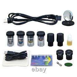 40x-2000x Brighter Darkfield Compound Intégré 3mp Digital Camera Led Microscope