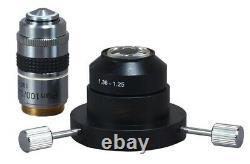 40x-2000x Compound Lab Darkfield Trinocular Led Microscope W 5mp Appareil Photo Numérique