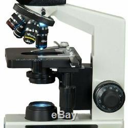 40x-2000x Intégré 3mp Appareil Photo Numérique Binocular Lab Composé Led Microscope
