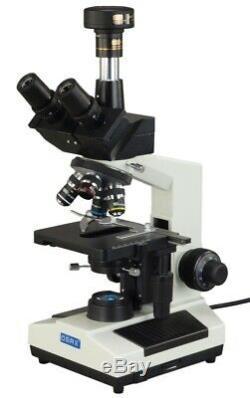 40x-2000x Led Darkfield Biologique Microscope Trinoculaire + 2mp Usb Appareil Photo Numérique
