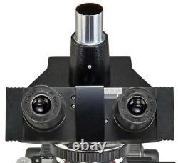 40x-2000x Trinocular Biologique Remplaçable Led Microscope+1.3mp Appareil Photo Numérique