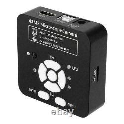 41mp Microscope Usb Industrial Hd Digital Camera Avec Adaptateur 0.5x Eyepiece Lens