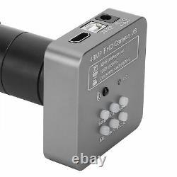 48mp 1080p 60fps Usb Digital Microscope Camera Eu Plug Avec Objectif 180x C-mount