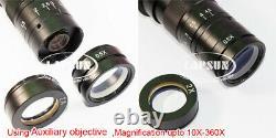 4k /1080p 60fps Hdmi C-mount Digital Industry Microscope Set Camera Lens Stand