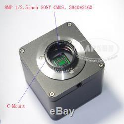 4k Uhd Hdmi 1080p @ 60fps Microscope Industriel Appareil Photo Numérique + C 100x Monture D'objectif