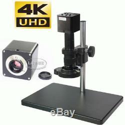 4k Uhd Hdmi 1080p @ 60fps Microscope Industriel Appareil Photo Numérique + C 180x Monture D'objectif
