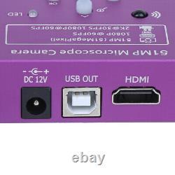 51mp Caméra Électronique Numérique Numérique Industrielle Hdmi/usb C Mount Lens