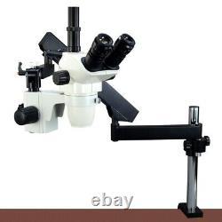 6.7x-45x Microscope Stéréo + Stand De Bras Articulat + 6w Led Light + Caméra Numérique 5.0mp