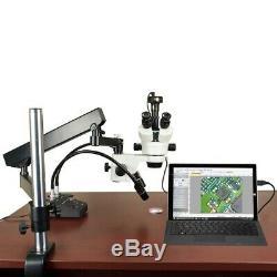 7-45x Microscope Stéréo + Articulã Support + 6w Led + 3.0mp Appareil Photo Numérique