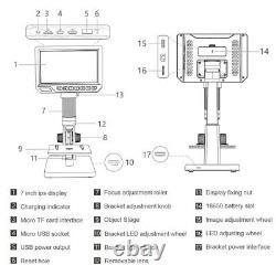 7 Microscope Numérique Usb Pour L'outil D'amplification Continue À Souder