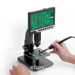 7inch Écran Microscope Industriel Électronique 2000x Appareil Photo Numérique Pour La Soudure
