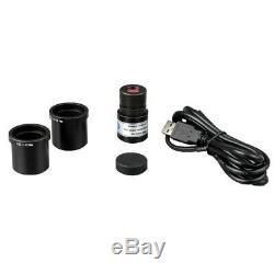Amscope 1000x Vet Haute Puissance Binocular Microscope + 2mp Usb Appareil Photo Numérique