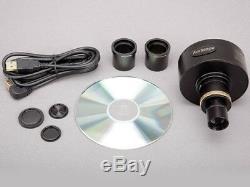 Amscope 10mp Microscope Appareil Photo Numérique Avec Objectif Focusable