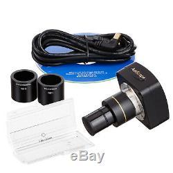 Amscope 10mp Usb Microscope Appareil Photo Numérique Pour La Vidéo + Stills + Kit D'étalonnage