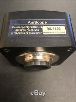 Amscope 18mp Usb 3.0 Ultra Fine Couleur Microscope Appareil Photo Numérique