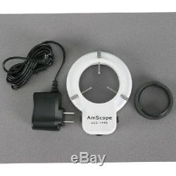 Amscope 3.5x-180x Led Manufacturing Zoom Stéréomicroscope + 10mp Appareil Photo Numérique