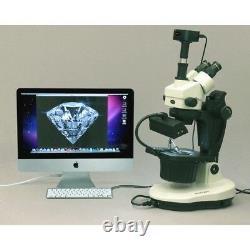Amscope 3.5x-90x Advanced Jewel Gem Microscope + Appareil Photo Numérique 5mp