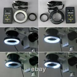 Amscope 3.5x-90x Zoom Numérique Stéréo Microscope + 4-zone 144-led + 5mp Caméra