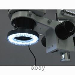 Amscope 3.5x-90x Zoom Stéréo Microscope + Appareil Photo Numérique Usb 3mp + Lumière D'anneau Led