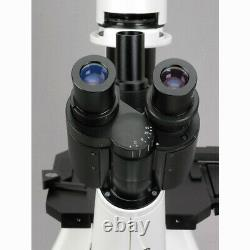 Amscope 40x-1000x Long Distance Plan Microscope Inversé + Appareil Photo Numérique 5mp