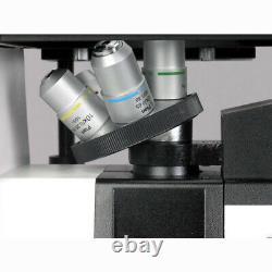 Amscope 40x-1000x Plan À Longue Distance Optique Microscope Inversé + Caméra 8mp