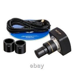 Amscope 40x-1600x Lab Microscope Trinoculaire + Caméra Usb Numérique 9mp