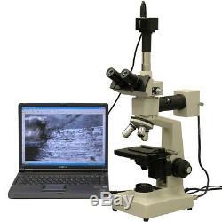 Amscope 40x-1600x Two Light + Microscope Métallurgique 3mp Appareil Photo Numérique
