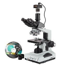 Amscope 40x-2000 Txrinocular Composé Microscope + 3mp Usb Biologie Appareil Photo Numérique