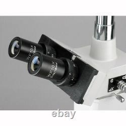 Amscope 40x-2000x Deux Microscopes Métallurgiques Légers + Appareil Photo Numérique 3mp