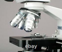 Amscope 40x-2000x Led Binocular Digital Microscope 3d Phase 5mp Caméra