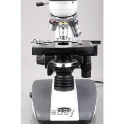 Amscope 40x-2000x Microscope À Led Composé Biologique + Caméra 10mp
