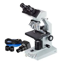 Amscope 40x-2000x Microscope Binoculaire + Mech. Stage + Appareil Photo Numérique 1.3mp