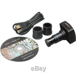 Amscope 40x-2000x Vet Haute Puissance Microscope Binoculaire + 3mp Appareil Photo Numérique