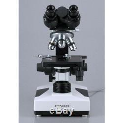 Amscope 40x-2000x Vétérinaire Médical Biologique Microscope Binoculaire 3mp Appareil Photo Numérique