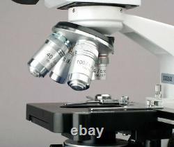 Amscope 40x-2500x Led Binocular Compound Microscope Numérique, Caméra Usb 3d Stage