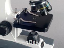 Amscope 40x-800x Microscope Composé W Cadre Usb En Métal Appareil Photo Numérique Lentille En Verre