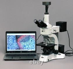 Amscope 50x-2000x Microscope Métallurgique Polarisant Darkfield + 3mp Digital Ca