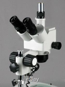 Amscope 5x-80x Zoom Stéréo Microscope Double Halogène + 5mp Appareil Photo Numérique