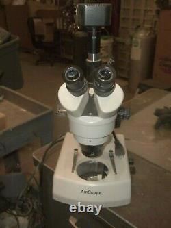 Amscope Binoculaire Microscope Avec Mt500 Camera Digital Wf10x/20 0,7-4,5 (658)
