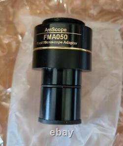 Amscope Mu1803 Usb3.0 Microscope Couleur 18mp Caméra Numérique + Calibrateur Etc