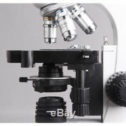 Amscope T360b-p 40x-2000x Microscope Led Biologique Composé + Appareil Photo Numérique