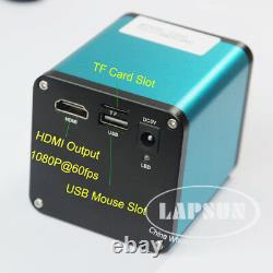 Autofocus 1080p 60fps Hdmi Caméra De Microscope Numérique Haute Vitesse 10x-180x C Lentille
